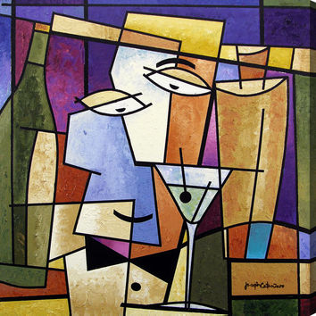 """Cocktail Art Painting Print - """"Cheers - Happy Hour"""""""