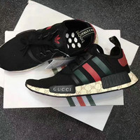 GUCCI Adidas NMD Fashion Women/Men Casual Running Sport Shoes