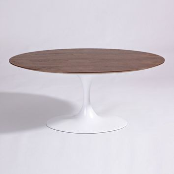 Tulip Coffee Table - Oval - Wood Top - Reproduction