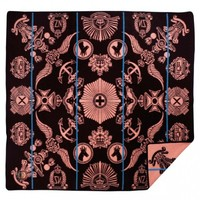Badges of The Brave Basotho Heritage Blanket - Brown/Salmon - home décor - HOUSE & HOME