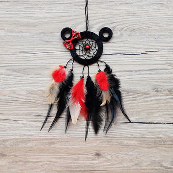 Car Dreamcatcher, Minnie Mouse Dream catcher, Car Dream catcher, Car Mirror Hanger, Rear View Mirror Dream Catcher, Car Mirror Charm, Mickey