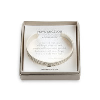 Maya Angelou Medium Engraved Cuff, Gold Dipped | Dogeared