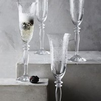 Horta Champagne Glasses by Anthropologie in Assorted Size: Set Of 4 Kitchen
