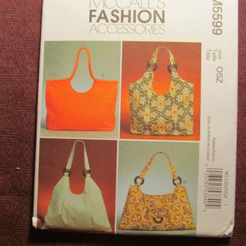 SALE Uncut McCall's Sewing Pattern, 5599! Fashion Accessories/Arts & Crafts/Handbags/Purses/Tote Bags/Women's Hand bags/Diaper Bags