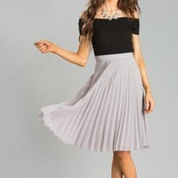 Cynthia Black Ribbed Off the Shoulder Top