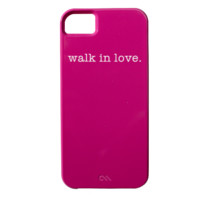 walk in love. Pink iPhone 5/5S Case