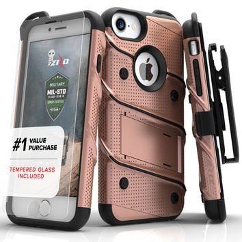 Apple iPhone 7 - BOLT Case Cover Kickstand Holster Tempered G...  cellphonecases.com e657f4098