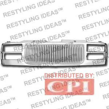 Gmc 1994-1999 Gmc Yukon Chrome Vertical Bar Abs Grille Performance