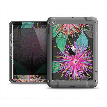 The Bright Colorful Flower Sprouts Apple iPad Air LifeProof Fre Case Skin Set