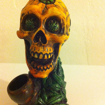 Tobacco Hand Made Pipe, Jay-Skull Design