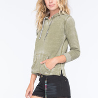 Billabong Stop And Stare Womens Hoodie Olive  In Sizes