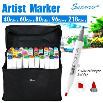 Artist Double Headed Marker Set 218 Colors Great Value Smooth Design Marker Animation Design Sketch Copic Markers For Drawing