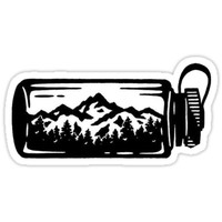 'outdoor water bottle' Sticker by stickersnstuff