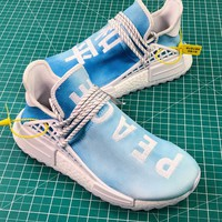 Pharrell Williams X Adidas Originals Hu Nmd Pw Trail China Exclusive Peace Blue F99763 Sport Running Shoes - Best Online Sale