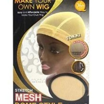 QFIT MAKE YOUR OWN WIG  STRETCH MESH DOME WIG CAP  #5031  NATURAL COLOR