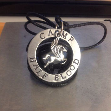 "Percy Jackson Inspired ""Camp Half-Blood"" Necklace"