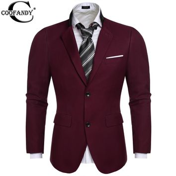 COOFANDY US size 2017 men blazer Fashion Two Button business Suit Blazer Coat Jackets British Style Tops outwear 9 color