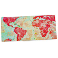 "Alison Coxon ""Oh The Places We'll Go"" World Map Desk Mat"