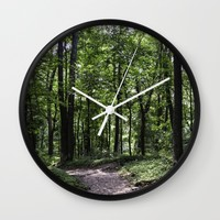 Walk in the Woods Wall Clock by Mary Andrews