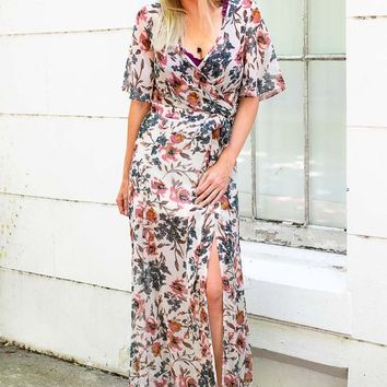 Naturally Sweet Floral Maxi Skirt Matching Set