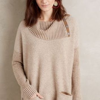Moth Brindley Cashmere Cowlneck in Moss Size: