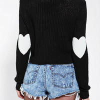 Coincidence & Chance Heart-Patch Cropped Sweater