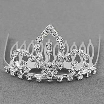 *[HPC]-The Rhinestone Tiara Comb Piece