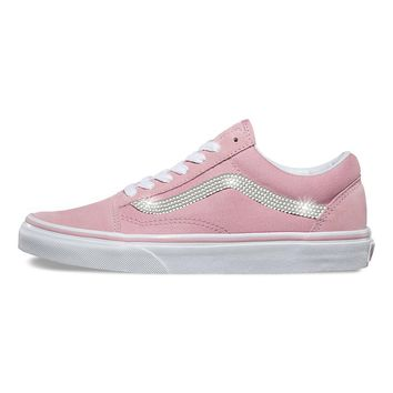 Vans Old Skool + Crystals - Zephyr Pink