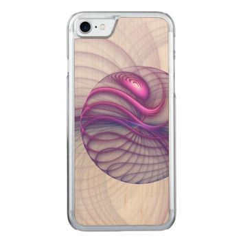 Beautiful Movements Abstract Fractal Art Pink Carved iPhone 7 Case