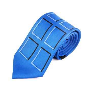 TARDIS Neck Tie Doctor Who Police Public Call Box Necktie Dr. Who Halloween Adult Fashion Party Wedding Accessories