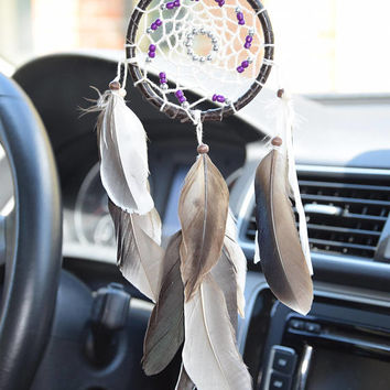 Native American Style Dreamcatcher, Rear View Mirror, Car Dreamcatcher, Car  Mirror Charm,