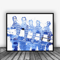The Beach Boys Surfin' USA Art Print Poster