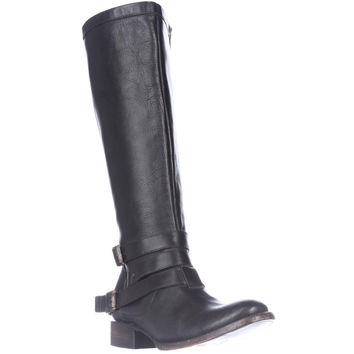 Freebird by Steven Madden Irish Riding Strapped Boots - Black