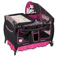 Hello Kitty Pin Wheel Deluxe Nursery Center Playard by Baby Trend (Pink)