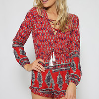 Ross It Playsuit - Red Print