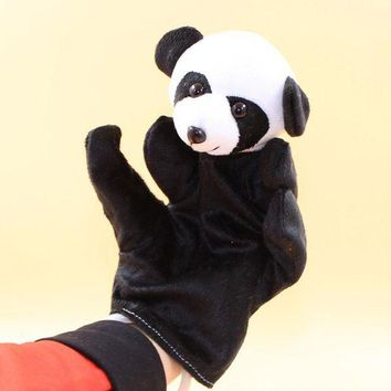 DCCKU7Q Funny toy Animal Panda Finger Puppet Plush Baby Favor Toys Dolls Kid Child Boys Girls Educational Hand Toy