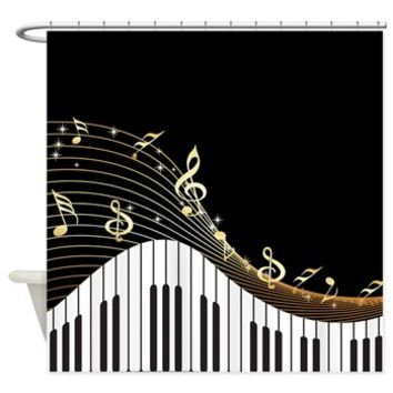 Ivory Keys Piano Music Shower Curtain> Shower Curtains> SpiceTree Gift Shop