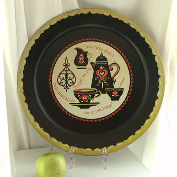 Vintage Kitsch Rustic Coffee Serving Tray or Wall Hanging
