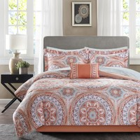 Madison Park Essentials Brighton Coral Complete Comforter and Cotton Sheet Set | Overstock.com Shopping - The Best Deals on Bed-in-a-Bag