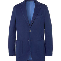 PRODUCT - Canali - Unstructured Slim-Fit Woven Cotton-Blend Jersey Blazer - 398304   MR PORTER