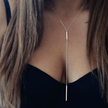 Simple one big circle chain body chains necklace