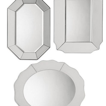 Uttermost Bianco Frameless Mirror Set/3 - 08111