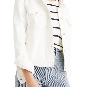 Madewell Boxy Crop Jean Jacket | Nordstrom