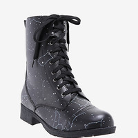 Constellation Print Combat Boots