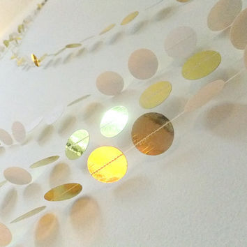Paper Garland - Gold Circles - 40ft Length