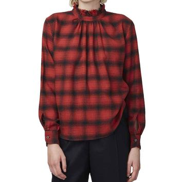 Officine Generale Sofia Checked Flannel Shirt