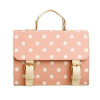 Sweet Cute Polka-dot Print Candy Color Clutch Bag Shoulder Bag