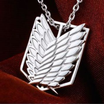 Cool Attack on Titan Anime  Scouting Legion 925 Silver Necklace Pendant -    AT_90_11