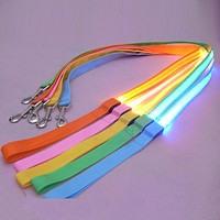2.5 cm LED Pet Cat Dog LED Leash Safety Glow Leash Flashing Lighting Up Good Quality Not the Cheaper One Dog Leash Free Shipping