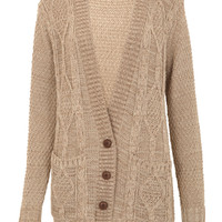 Boyfriend Knitted Cardigan in Mocha - Womens Clothing Sale, Womens Fashion, Cheap Clothes Online   Miss Rebel